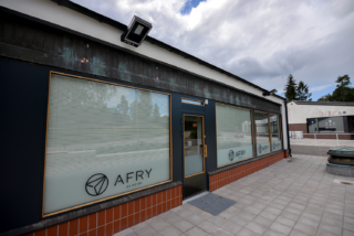 AFRY office entrance in shopping centre A Blanc